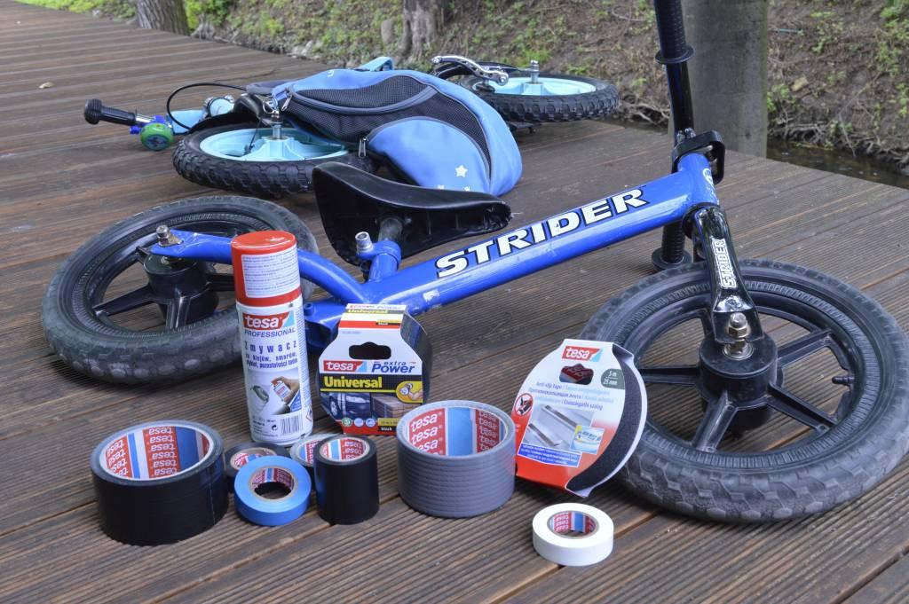 Naprawa roweru z produktami tesa