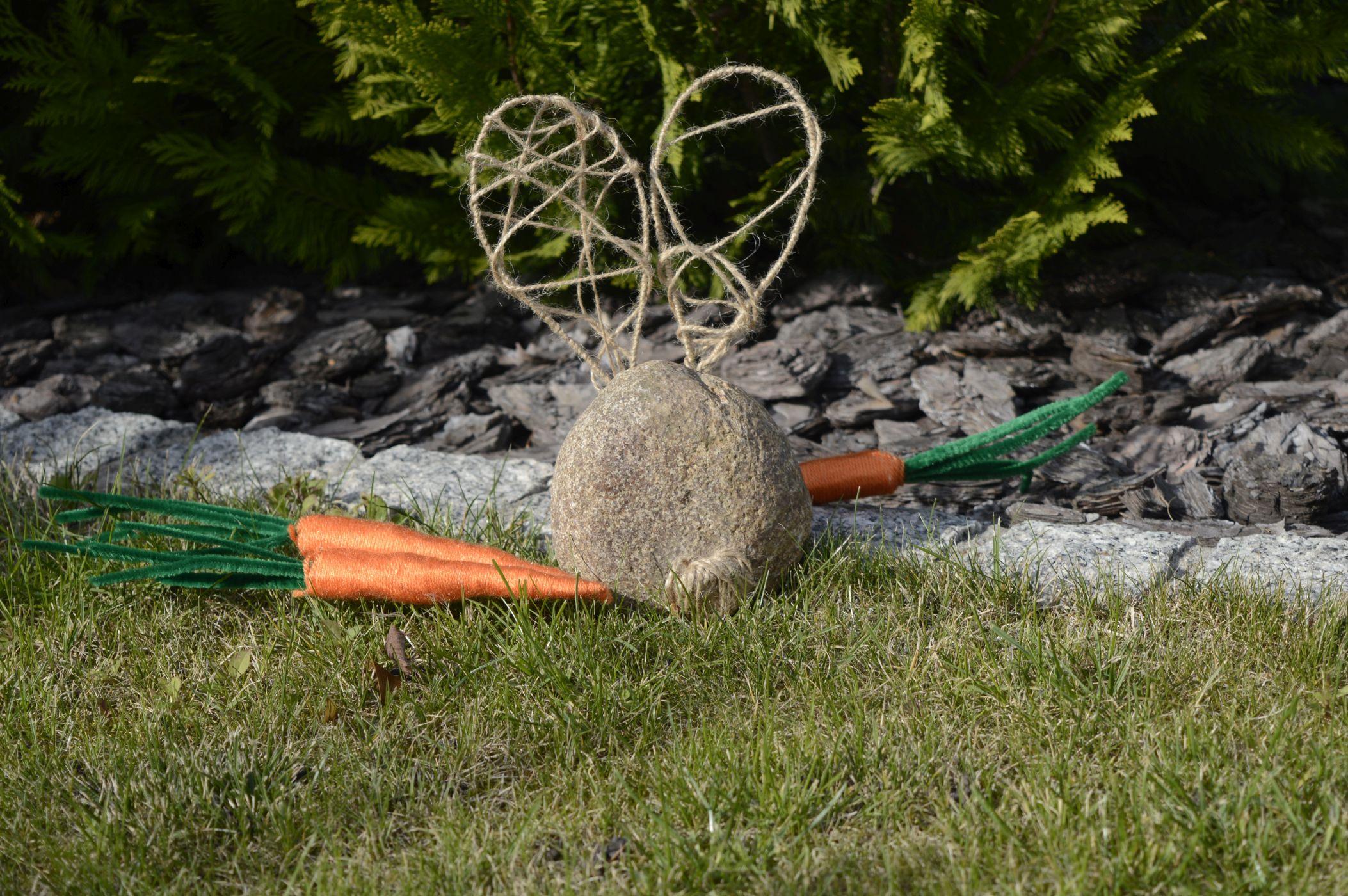 Zajączek i marchewki DIY
