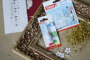 Ramka świąteczna, dekoracja - potrzebne materiały