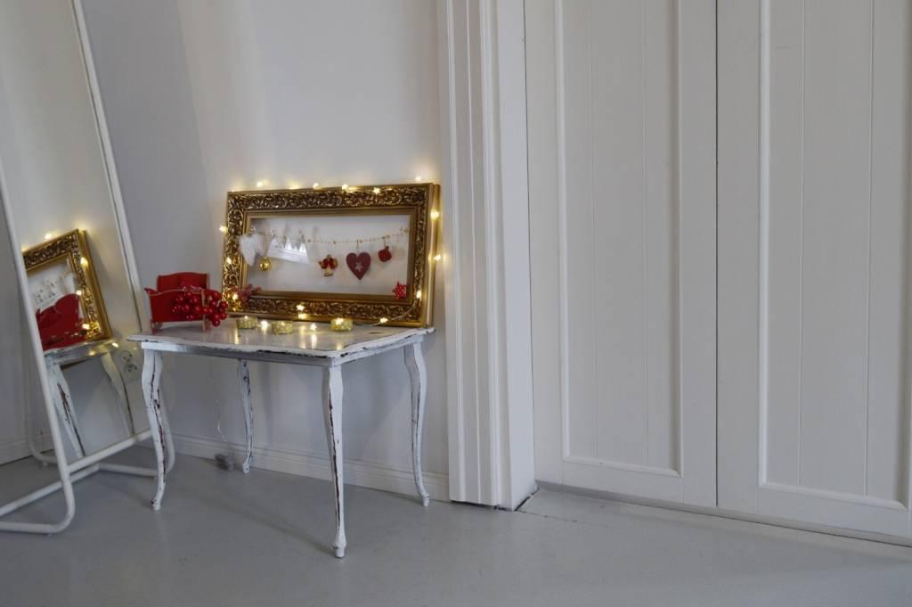 Ramka świąteczna - gwiazdkowe dekoracje