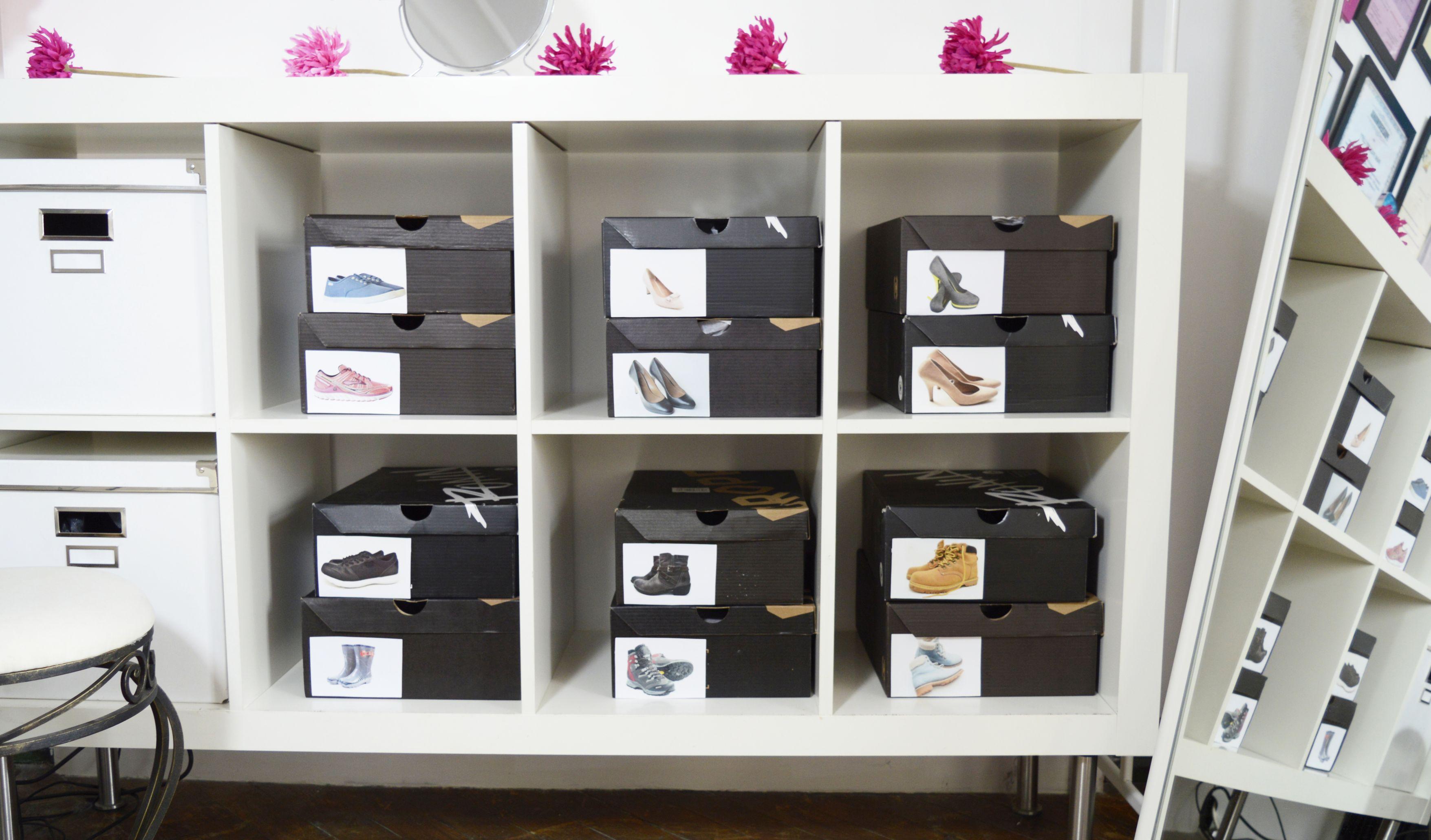 Znakowanie pudełek z butami