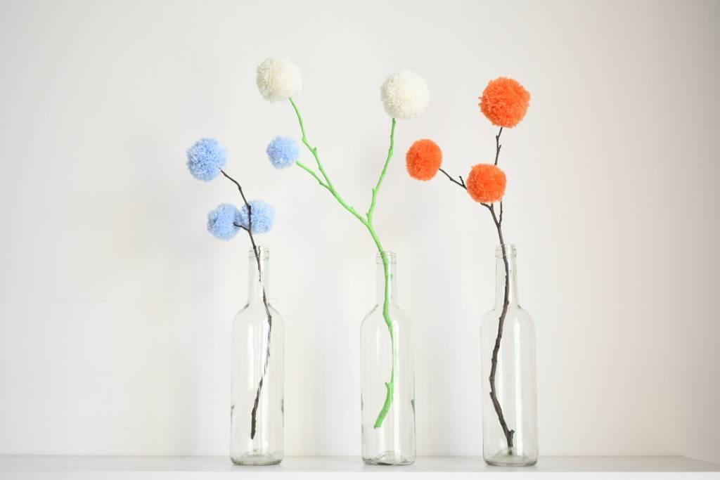 kwiaty z pomponów