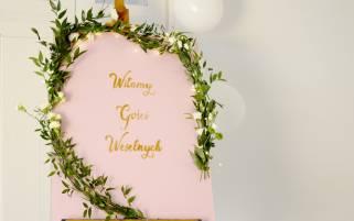 tablica powitalna DIY na wesele
