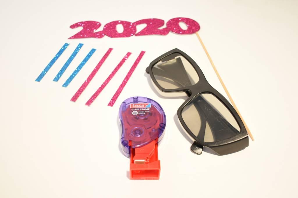 okulary żaluzje - potrzebne materiały