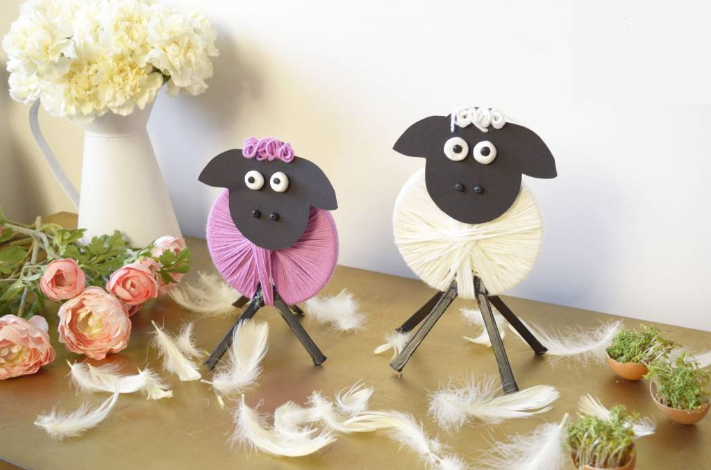 Wielkanocna dekoracja - baranki DIY