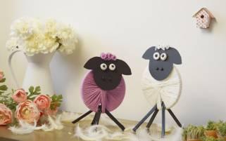 Wielkanocna dekoracja - Baranek DIY