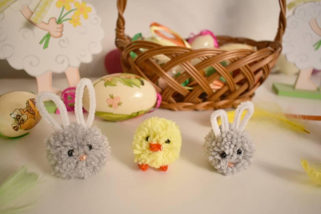 Ozdoby z Wielkanoc z włóczki