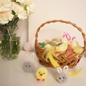 Ozdoby na Wielkanoc - kurczak i zajączek