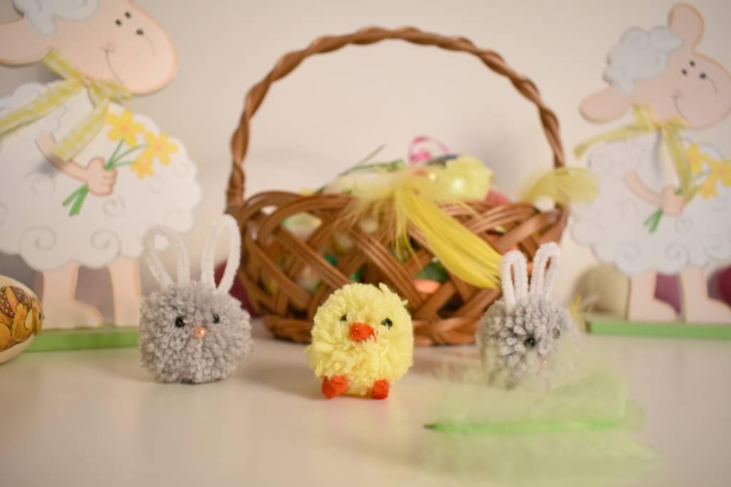 Ozdoby na Wielkanoc z pomponów