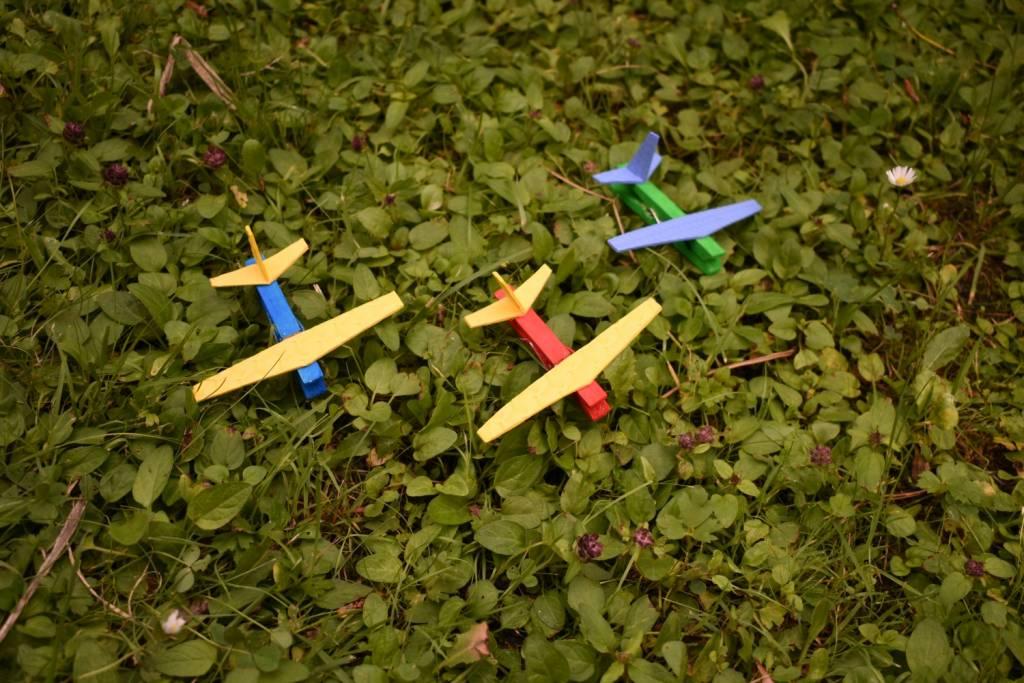 Samoloty z klamerek DIY