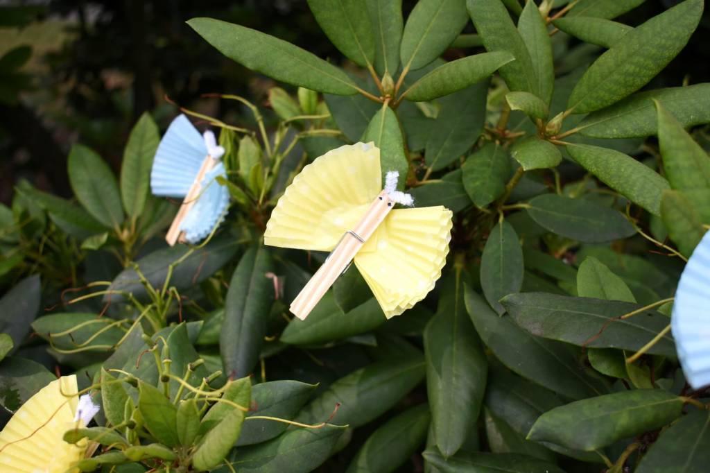 Motylki z klamerek i papilotek