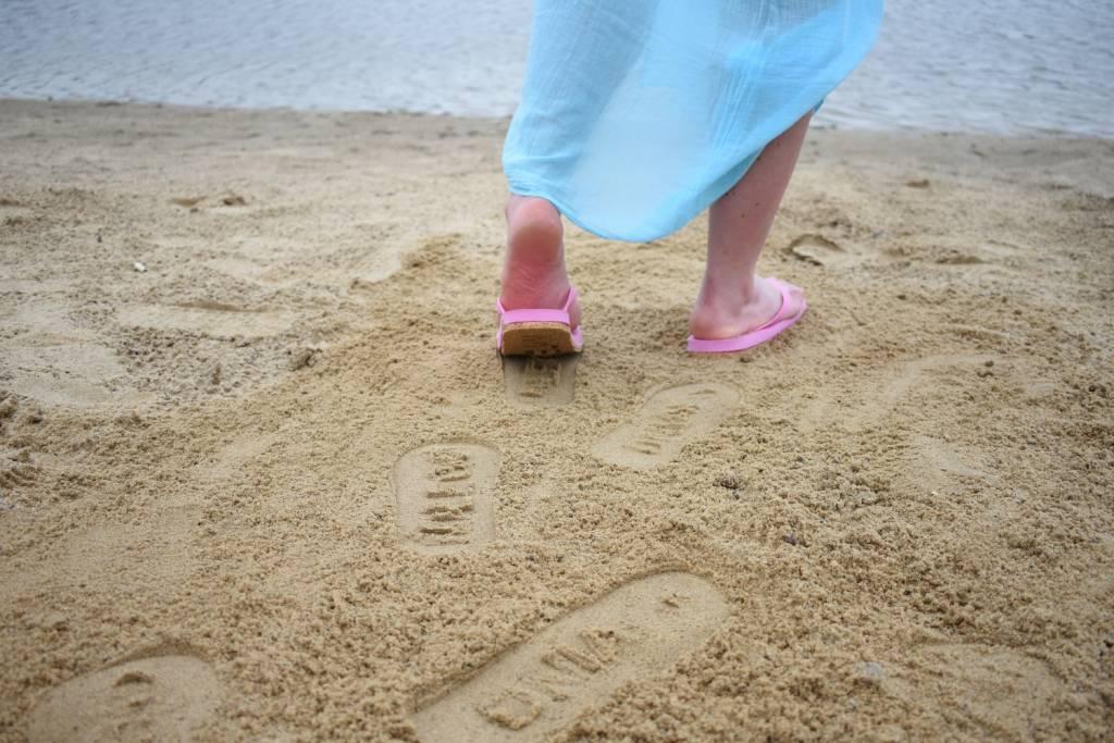 Wiadomość na piasku